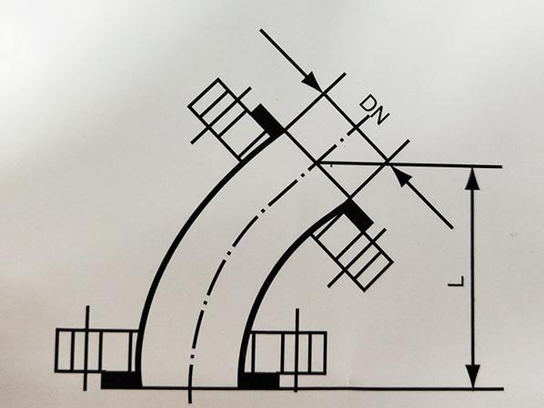 搪玻璃管道45°弯头