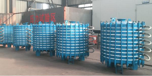 5台<搪玻璃三孔叠片式冷凝器>生产完成