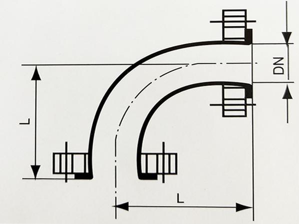 搪玻璃管道90°弯头